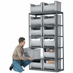 Stak-N-Store Steel 6 Shelf System<br>Holds:12 Single-Medium Stak-N-Stor Container Bins