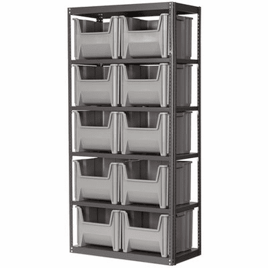Stak-N-Store Steel 6 Shelf System<br>Holds: 10 Single-Large Stak-N-Stor Container Bins