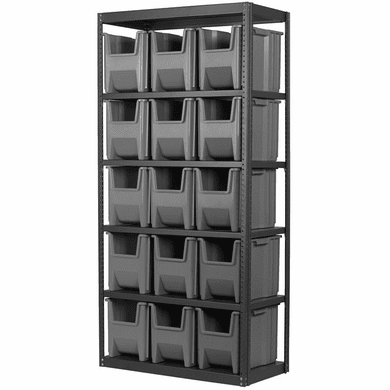 Stak-N-Store Steel 6-Shelf System<br>Holds: 15 Single-Small Stak-N-Stor Container Bins