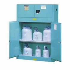 Steel Cabinets Justrite Corrosive Safety Storage Cabinets  60 gal.  2-door