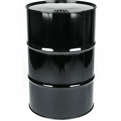 Steel Drum 55 Gal Closed-Top | Black with Rust Inhibitor Lining | Black, Blue Or Gray
