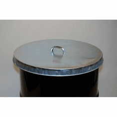 Galvanized Steel Drum Covers for 55 Gallon Open-Head Barrel<br>26 Gauge Steel (Cover ONLY)