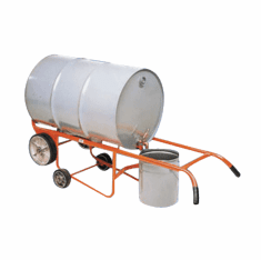 Steel Drum Drainer Truck, Moldon Rubber Wheel Type