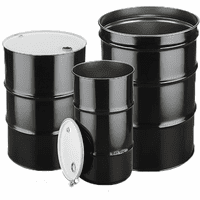 55 Gallon Steel Drums & Metal Barrels