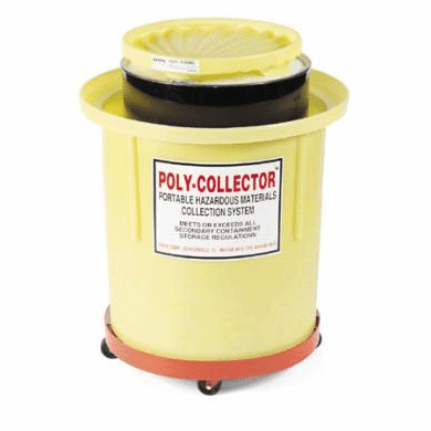 Steel Hazmat Movable Waste Collection 110 Gallon