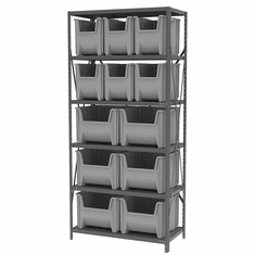 Steel Shelving Systems for Stack-N-Store Single Container Bins