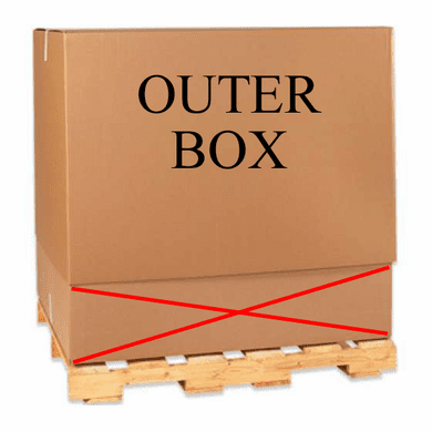 """Telescoping Outer Top Bulk Cardboard Corrugated Cargo Boxes 47 3/4"""" x 40"""" x 34"""", 50 Count"""