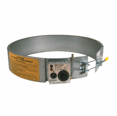 Thermostat Control Three 120v 16 Gal Steel Drum Heater, 60-250 Degrees