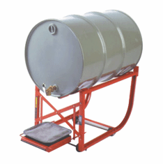 Tipping Lever Drum Cradle, Swivel Casters