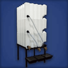 Tote A Lube Storage and Dispensing System,3 - 70 gal tanks