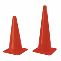 "Traffic Cone, 18"" H x 11.5"" square base  Case of 20"
