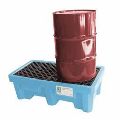 Ultra Fluorinated Poly Spill Pallets For Chlorinated Solvents 2-drum No Drain Plug