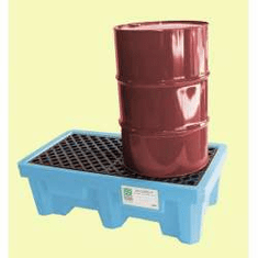 Ultra Fluorinated Poly Spill Pallets For Chlorinated Solvents 2-drum With Drain Plug