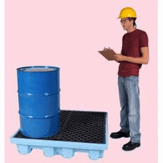 Ultra Fluorinated Poly Spill Pallets For Chlorinated Solvents 4-drum No Drain Plug