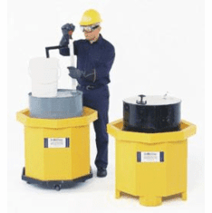 Ultra Spill Collector Moves With Pallet Jack  Flat Bottom Spill Collector Bottom