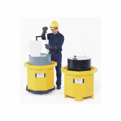 Ultra Spill Collector Moves With Pallet Jack or Forklift Pallet Jack Spill Collector