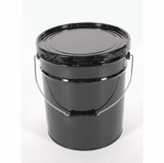 Unlined Rust-Inhibitor 5 Gallon Open-Head Steel Pails  w/ Lid Cover