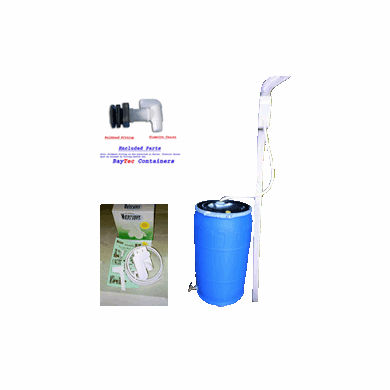 "Used 35 Gal Open Head Rain Barrel Kit<strong><font color=""#FF0000""> SOLD OUT Free Shipping</font></strong>"