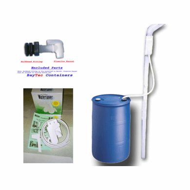 "Used 55 Gal Tight Head Rain Barrel Kit<strong><font color=""#FF0000""> Free Shipping</font></strong>"