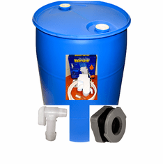 """Used/Reconditioned  55 Gal Tight Head Rain Water Barrel Kit<strong><font color=""""#FF0000""""> Free Shipping</font></strong>"""