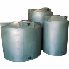 Water Storage tanks by Poly-Mart�  | 5 Year Manufacturer Warranty | Vertical Storage Tanks  with Manway Cover, Inlet Bulkhead, & Outlet Bulkhead