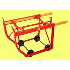 Welded  Combination Drum Cradle, Hard Rubber