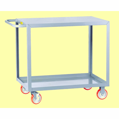 "Welded Service Cart Flush/Flat Shelf |  2 Shelves  30"" x 48"""