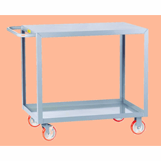 "Welded Service Cart  Flush/Flat Shelf  2 Shelves  30"" x 60"""