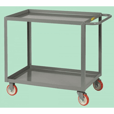 "Welded Service Cart Shelf Lip Shelves  2 Shelves  18"" x 24"""