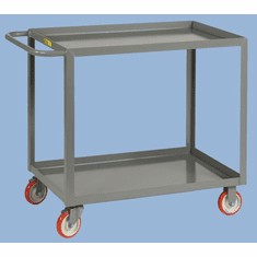 "Welded Service Cart Shelf Lip Shelves  2 Shelves  24"" x 36"""