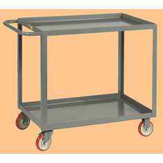 "Welded Service Cart Shelf Lip Shelves  2 Shelves  30"" x 48"""