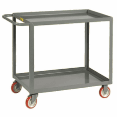 "Welded Service Cart Shelf Lip Shelf  2 Shelves  30"" x 60"""