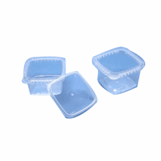 White, 1 gallon plastic containers with handle IPL Square Container