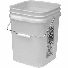 "White Economy Square 4 Gallon Plastic Bucket, 18 Pack<br><font color=""#FF0000"">Free Shipping</font>"