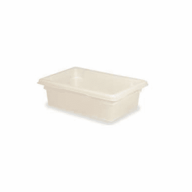 "White  Polyethylene Food Box Rubbermaid 3.5 Gal 18"" x 12"" x 6"""