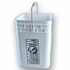 White Square 4 Gallon Plastic Bucket, 6 Pack-FREE SHIPPING