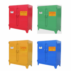 WILRAY Heavy-Duty, Safety Cabinets 120 Gallon 2 Doors 5 Shelves
