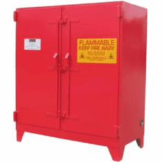 WILRAY Heavy-Duty Safety Cabinets 20 Gallon 1 Doors 4 Shelves-red