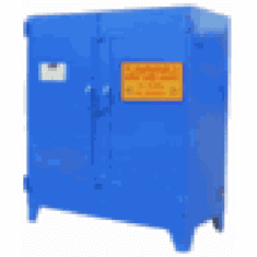 WILRAY Heavy-Duty Safety Cabinets Horz. 2 Drum 2 Shelves-blue