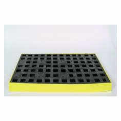 Yellow Dixie Low Boy Spill Deck 4-drum deck 18 Gallon Sump