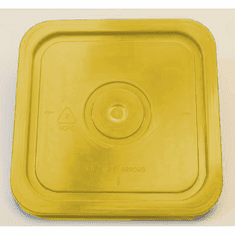 Yellow Lid for Square 4 Gallon Plastic Bucket,no Gasket,18 Pack