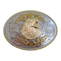 American Bald Eagle Prey Gold and Silver Plated Western Belt Buckle Buckles
