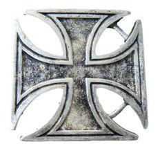 ANTIQUE SILVER IRON CROSS RELIGION COOL BELT BUCKLE BUCKLES