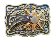 Western Cowboys Cowgirls Spinning Spur Belt Buckle Rodeo Horse Rider Belt Buckles