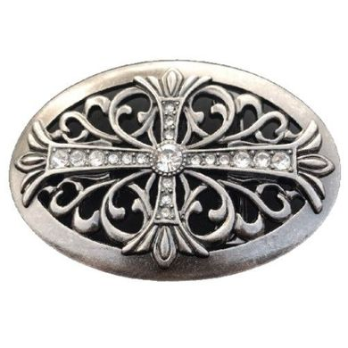 CELTIC IRISH MALTESE IRON FLORAL CROSS COOL WESTERN COWGIRL RODEO BELT BUCKLE