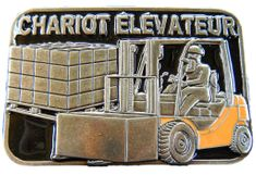 CHARIOT ELEVATEUR FRENCH FORKLIFT OPERATOR OCCUPATION QUALITY BELT BUCKLE BUCKLES