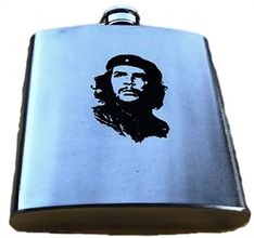 CHE GUEVARA CUBA CASTRO FLASK 6OZ STAINLESS STEEL DRINK