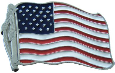 United States USA Flag Belt Buckle America's Ameican Old Glory Flags Belts & Buckles