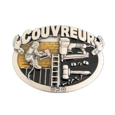 COUVREUR FRENCH ROOFER CONSTRUCTION ROOF REPAIR WORKER TOOLS BELT BUCKLE BUCKLES