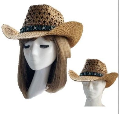 Cowboy Cowgirl Western Rodeo Ranch Concert Straw Hat Vented Sombrero Unisex Hats